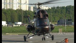 Вертолет Ми-2 - запуск-взлет из Крокус-Экспо