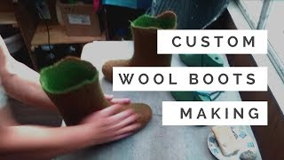 FELT FORMA - How We Make Felted Wool Boots - Wet Felting Process