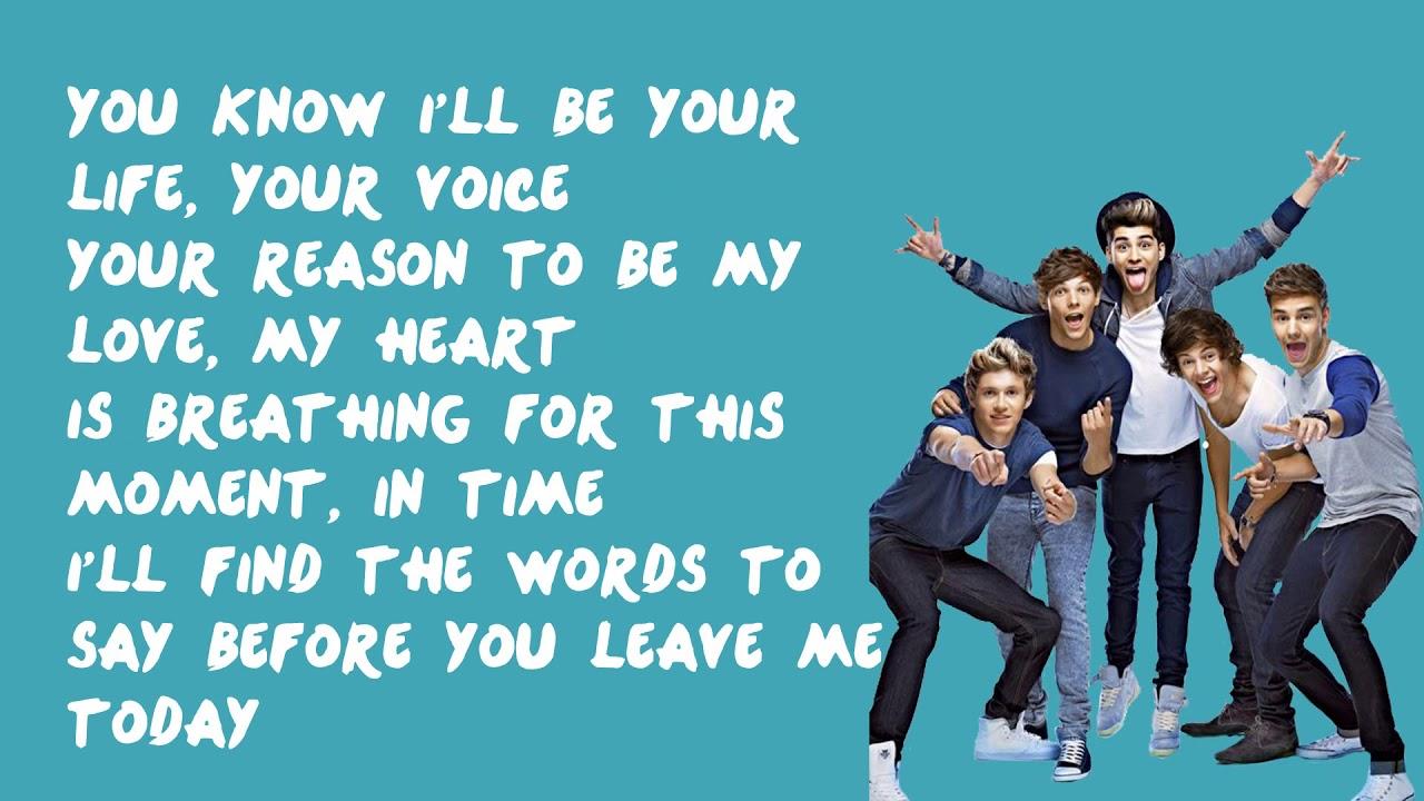One direction - moment lyrics