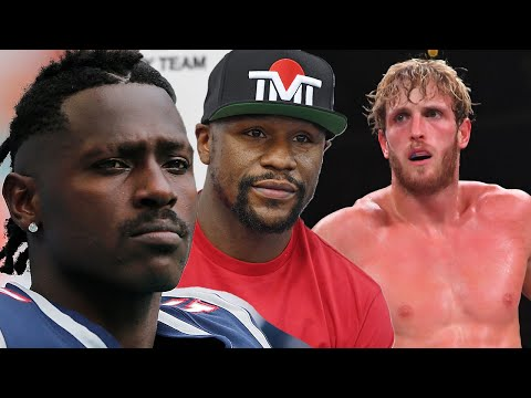 Antonio Brown Claims He Will Train With Floyd Mayweather To FIGHT Logan Paul