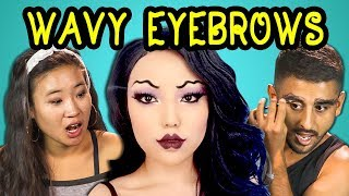 COLLEGE KIDS REACT TO WAVY EYEBROWS (VIRAL MAKEUP TREND)