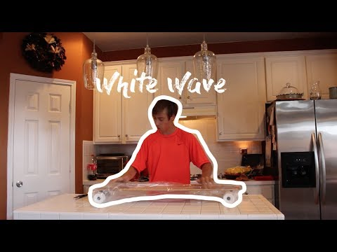 WHITE WAVE LONGBOARD CRUISER UNBOXING AND REVIEW!! // Vlog #105
