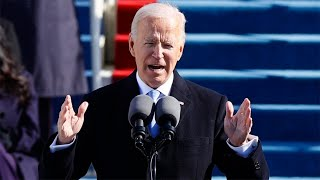 video: Joe Biden's inauguration speech in full: 'We will write an American story of hope'
