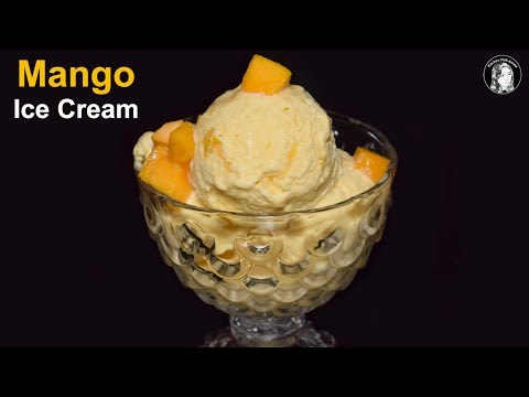 Video Mango Ice Cream Recipe Without Machine - How to make Mango Ice Cream - Homemade Ice Cream Recipe