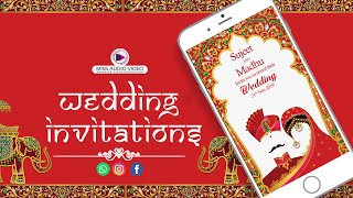 ✅  MV013 Rajasthani Wedding Invitation Video|| Indian Marriage Invitation Card | Shadi Invitation