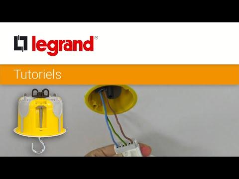 Installer une boîte d'encastrement DCL Legrand pour suspendre un luminaire au plafond