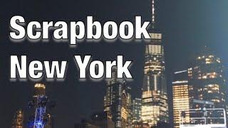 Travel Scrapbook Ideas - New York Scrapbook - 2 page scrapbook layout