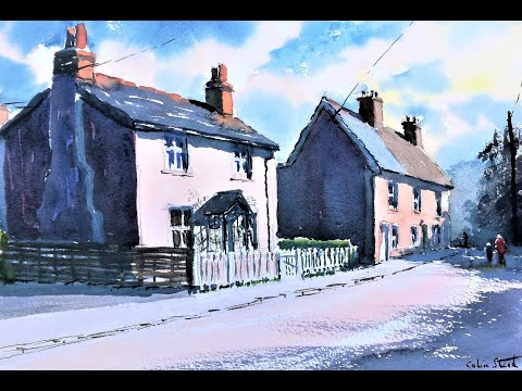 Thumbnail of 'Cottages, The Street, Galleywood'. (watercolour demonstration).