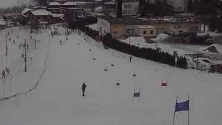 preview picture of video 'KRAKOWSKA OLIMPIADA MŁODZIEŻY W NARCIARSTWIE ALPEJSKIM - GIMNAZJADA - SIEPRAW SKI - 19.02.2013'