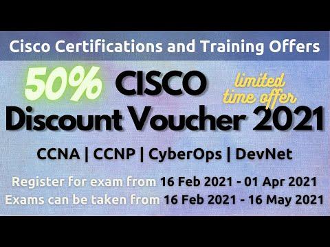 Cisco Discount Voucher 2021 (50%) | CCNA | CCNP | DevNet ...