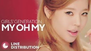 GIRLS' GENERATION - My Oh My (Line Distribution)