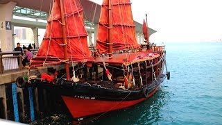Chinese Red Sail Junk Boats