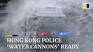 Hong Kong Police's new 'water cannon' anti-riot vehicles ready for deployment on city streets