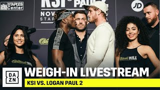 KSI vs. Logan Paul 2 Official Weigh-In Livestream