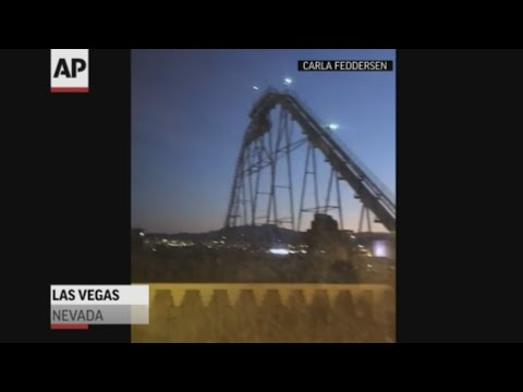 Preliminary estimates by the U.S. Geological Survey say a 7.1 magnitude quake hit in Southern California Friday night, and it was felt all the way in Las Vegas. Carla Feddersen filmed a roller coaster in Las Vegas swaying in the quake. (July 5)