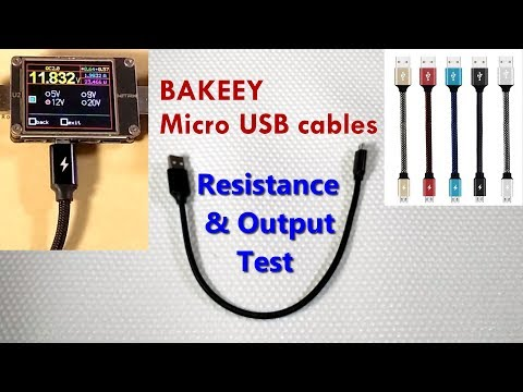 Bakeey 28cm Micro USB Cables - Resistance and Output Test