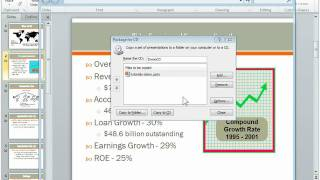 How to save PowerPoint 2010 presentation to CD