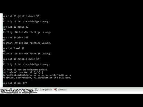 Mathematik: Ein Rechentrainer in C++