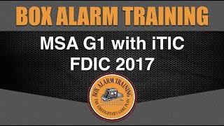 MSA G1 with iTIC   Box Alarm Training