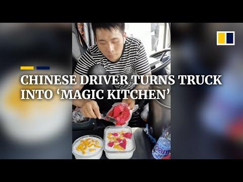 Исключает ли жизнь в пути хорошую еду? Водитель-гурман из Китая показывает, сколько блюд можно приготовить в салоне