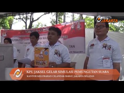 KPU Kota Jaksel Gelar Simulasi Pemungutan Suara Pilgub DKI