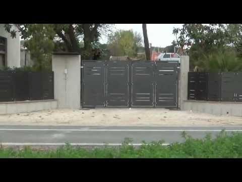 Cancello e recinzione con lamiere