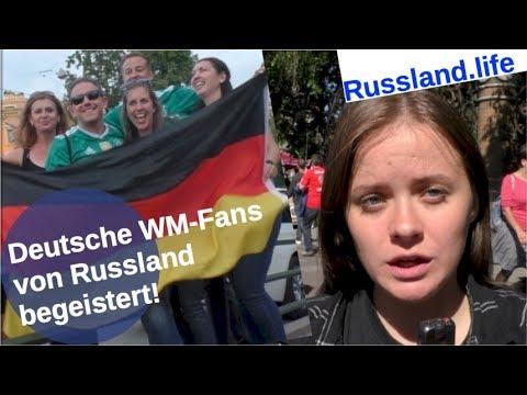 Fußball-WM: Deutsche Fans von Russland begeistert! [Video]
