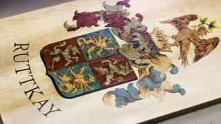 Ruttkay Family Crest By Wood Arts Intarsia