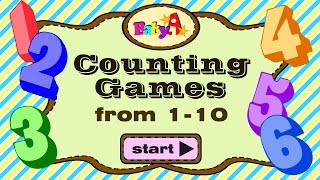 Counting Games | Counting Numbers From 1-10 By BabyA Nursery Channel