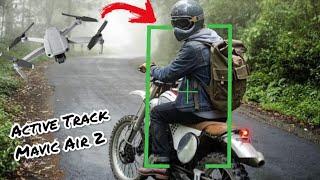 Mavic Air 2 Seguindo Moto em Estrada Apertada - Testando o Active Track 3.0