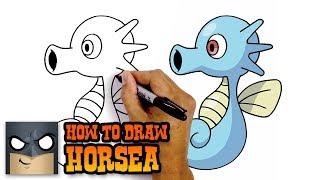 Horsea  - (Pokémon) - How to Draw Pokemon   Horsea   Step-by-Step