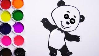 Como Dibujar y Colorear Un Oso De Arco Iris - Dibujos Para Niños - Learn Draw / FunKeep