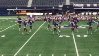 The real Dallas Cheerleaders perform at DFC 2016