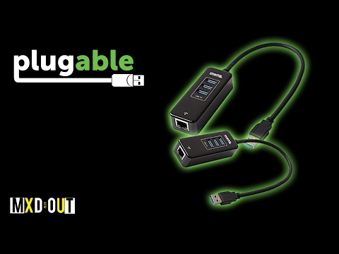 Plugable USB 3.0 3-Port Bus Powered Hub With Gigabit Ethernet!? | Review