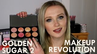 Makeup Revolution - Golden Sugar 2 Rose Gold Palette :: Review & Swatches