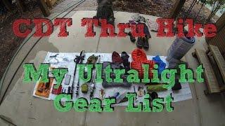 CDT Thru Hike: My Ultralight Gear List