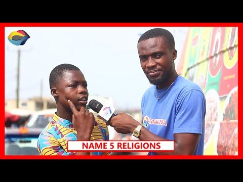 NAME 5 RELIGIONS | Street Quiz | Funny African Videos | Funny Videos | African Comedy