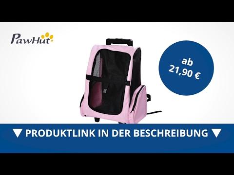 PawHut 2in1 Hunde Transporttasche Rucksack Hunde Trolley pink - direkt kaufen!