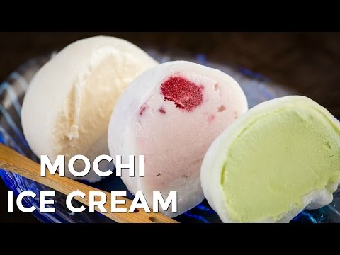 Video How to Make Mochi Ice Cream (Recipe) もちアイスクリームの作り方(レシピ)