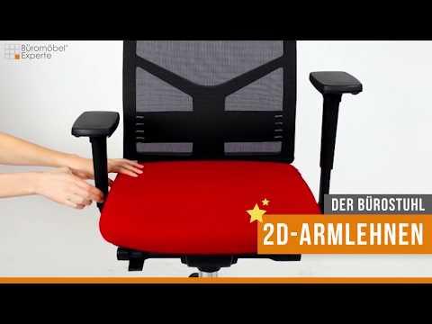 Der Bürostuhl: 2D-Armlehnen