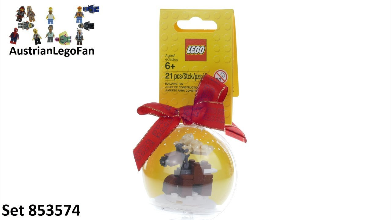 Lego Seasonal 853574 Christmas Ornament Reindeer - Lego Speed Build Review