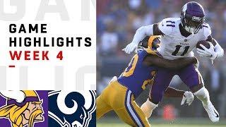 Vikings vs. Rams Week 4 Highlights | NFL 2018