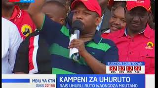Governor Mike Sonko appeals to supporters to vote for Uhuru Kenyatta