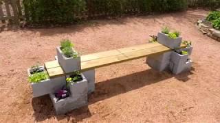 DIY Concrete Bench Planter For Your Garden