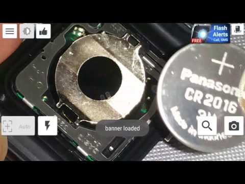 DIY How To Change Replace CR2016 Battery Tutorial For Casio Data Bank Calculator Wrist Watch HD 2017