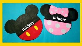 Easy Making Birthday Invitation Card/mickey Mouse Invitation Card/greetings Card