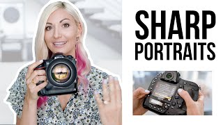 How to Get Sharp Focus Portraits with a Low F-Stop | Portrait Photography Tips