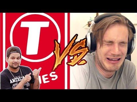 Pewdiepie vs t-series INDIAN ROASTER REACTION