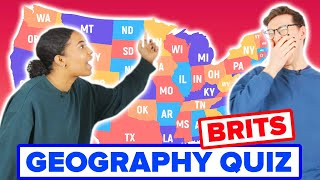 Brits Try To Label A Map Of The US