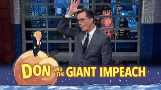 "On tonight's episode of 'Don and the Giant Impeach,' Stephen Colbert updates us on the fast-moving Ukraine investigation and the actions of key players in President Trump's inner circle: Attorney General William Barr, Secretary of State Mike Pompeo, and attorney Rudy Giuliani. #Monologue #Impeachment #Colbert  Subscribe To ""The Late Show"" Channel HERE: http://bit.ly/ColbertYouTube For more content from ""The Late Show with Stephen Colbert"", click HERE: http://bit.ly/1AKISnR Watch full episodes of ""The Late Show"" HERE: http://bit.ly/1Puei40 Like ""The Late Show"" on Facebook HERE: http://on.fb.me/1df139Y Follow ""The Late Show"" on Twitter HERE: http://bit.ly/1dMzZzG Follow ""The Late Show"" on Google+ HERE: http://bit.ly/1JlGgzw Follow ""The Late Show"" on Instagram HERE: http://bit.ly/29wfREj Follow ""The Late Show"" on Tumblr HERE: http://bit.ly/29DVvtR  Watch The Late Show with Stephen Colbert weeknights at 11:35 PM ET/10:35 PM CT. Only on CBS.  Get the CBS app for iPhone & iPad! Click HERE: http://bit.ly/12rLxge  Get new episodes of shows you love across devices the next day, stream live TV, and watch full seasons of CBS fan favorites anytime, anywhere with CBS All Access. Try it free! http://bit.ly/1OQA29B  --- The Late Show with Stephen Colbert is the premier late night talk show on CBS, airing at 11:35pm EST, streaming online via CBS All Access, and delivered to the International Space Station on a USB drive taped to a weather balloon. Every night, viewers can expect: Comedy, humor, funny moments, witty interviews, celebrities, famous people, movie stars, bits, humorous celebrities doing bits, funny celebs, big group photos of every star from Hollywood, even the reclusive ones, plus also jokes."